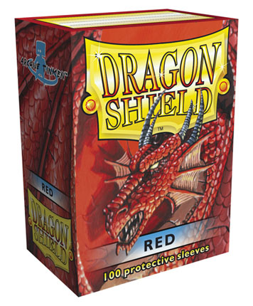 Obaly na karty Dragon Shield Protector - Red - 100ks