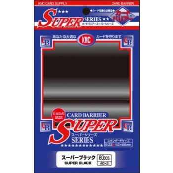 Obaly na karty KMC Standard Sleeves - Super Black - 80ks