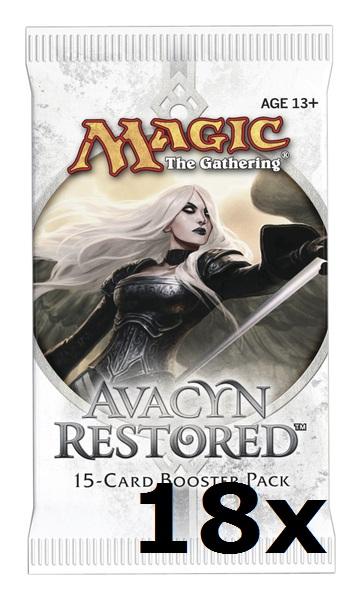 Magic the Gathering Avacyn Restored 18 boosterů + krabice na karty