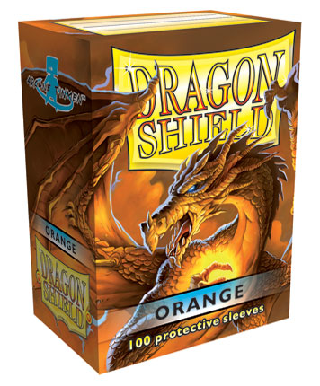 Obaly na karty Dragon Shield Protector - Orange - 100ks