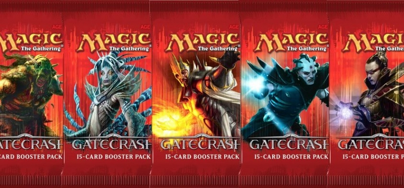 Magic the Gathering Gatecrash 18 boosterů + krabice na karty