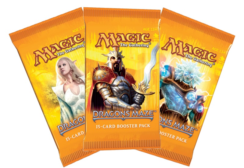 Magic the Gathering Dragon's Maze 18 boosterů + krabice na karty