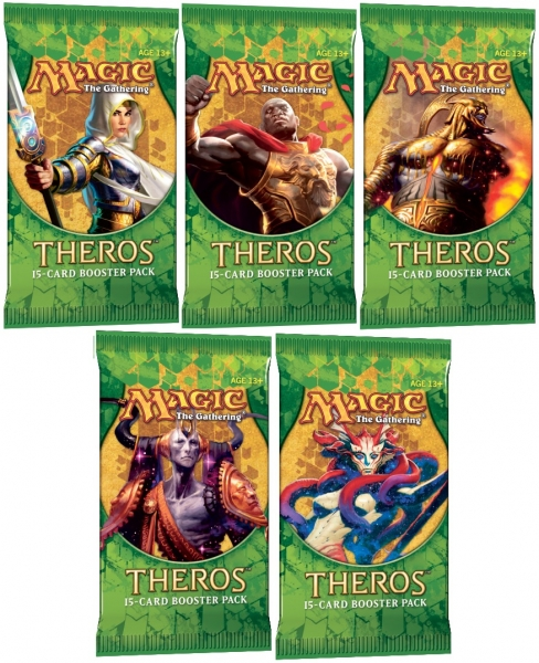 Magic the Gathering Theros 18 boosterů + krabice na karty