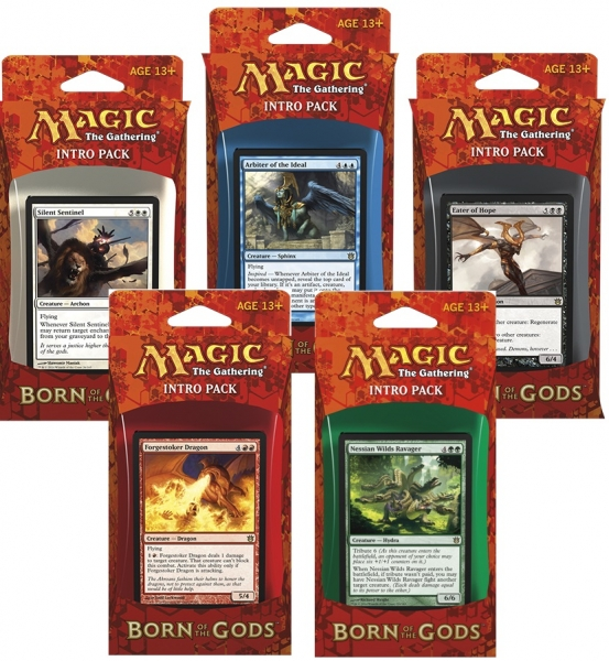 Magic the Gathering Born of the Gods Intro Pack: Set 5 Intro Packů