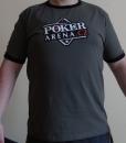 Šedé pánské tričko s logem Poker-Arena.cz, velikost L
