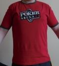 Červené pánské tričko s logem Poker-Arena.cz, velikost M, L, XL