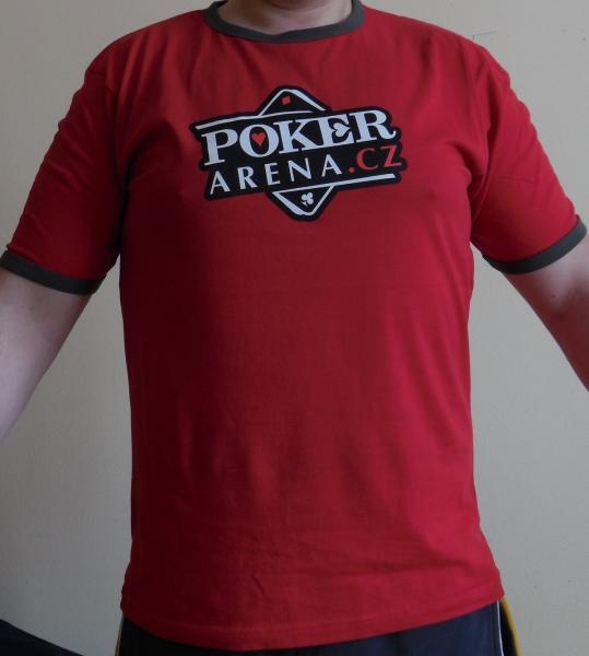 8dd4096f658 Červené pánské tričko s logem Poker-Arena.cz