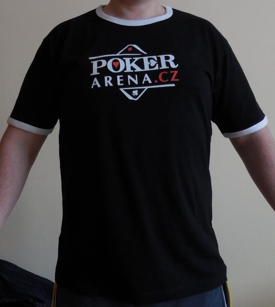 2ce059fd55d Černé pánské tričko s logem Poker-Arena.cz