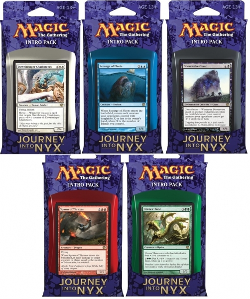 Magic the Gathering Journey into Nyx Intro Pack: Set 5 Intro Packů