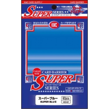 Obaly na karty KMC Standard Sleeves - Super Blue - 80ks