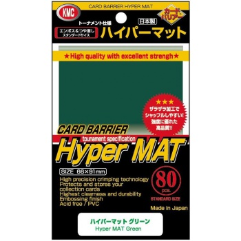 Obaly na karty KMC Standard Sleeves - Hyper Mat Green - 80ks