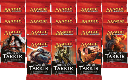 Magic the Gathering Khans of Tarkir 18 boosterů + krabice na karty