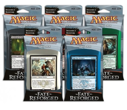 Magic the Gathering Fate Reforged Intro Pack: Set 5 Intro Packů
