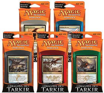 Magic the Gathering Dragons of Tarkir Intro Pack: Set 5 Intro Packů