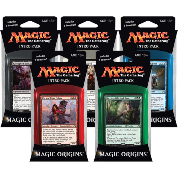 Magic the Gathering Magic Origins Intro Pack: Set 5 Intro Packů