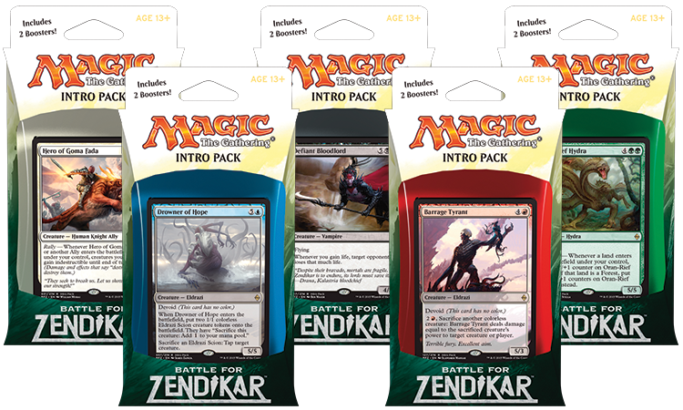 Magic the Gathering Battle for Zendikar Intro Pack: Set 5 Intro Packů