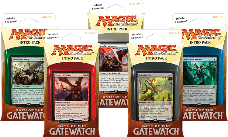 Magic the Gathering Intro Packy z edice Oath of the Gatewatch