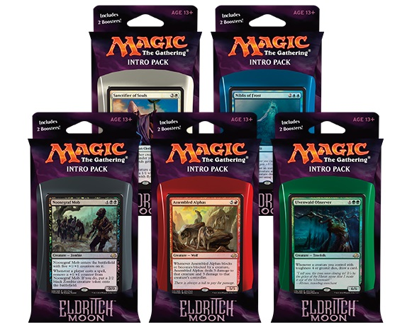 Magic the Gathering Eldritch Moon Intro Pack: Set 5 Intro Packů