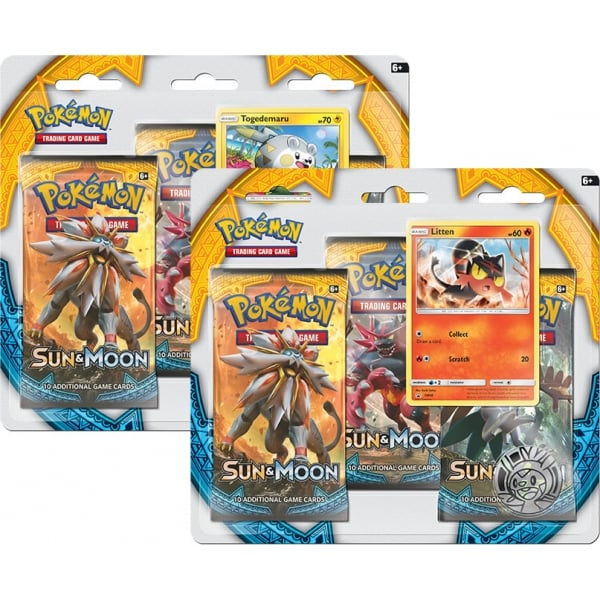 Pokémon Sun and Moon 3 Pack Blister