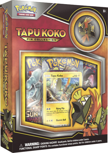 Pokémon Tapu Koko Pin Collection