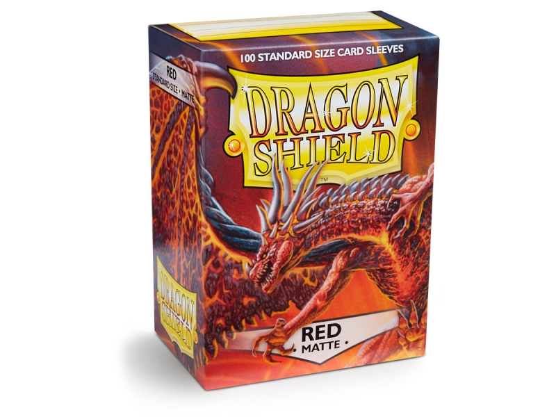 Obaly na karty Dragon Shield Protector - Matte Red - 100ks