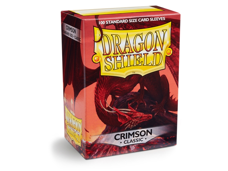 Obaly na karty Dragon Shield Protector - Crimson - 100ks