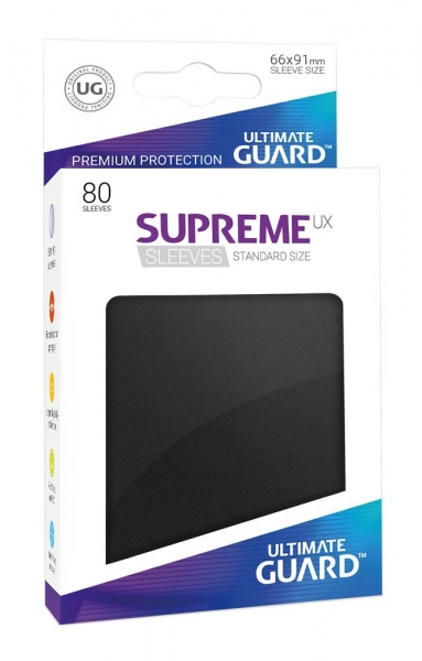 Obaly na karty Ultimate Guard Supreme UX Sleeves - Black 80ks
