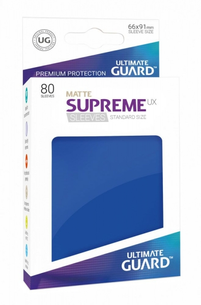 Obaly na karty Ultimate Guard Supreme UX Sleeves - Matte Blue 80ks