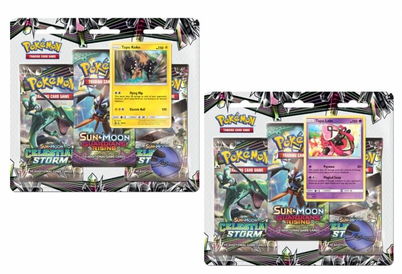 Pokémon Sun and Moon - Celestial Storm 3 Pack Blister