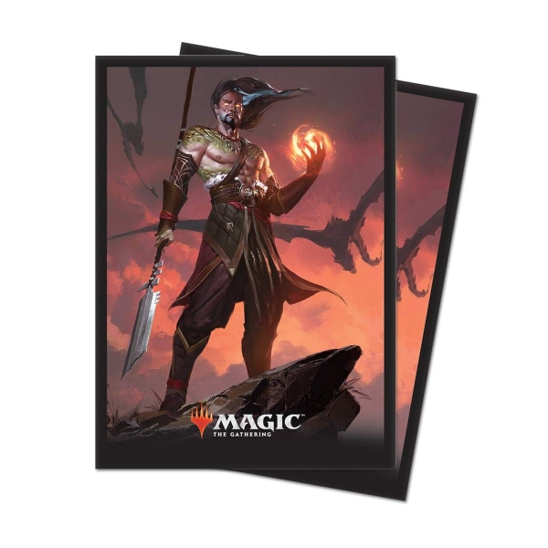 Obaly na karty Magic 2019 Core Set: Sarkhan, Fireblood - 80 ks