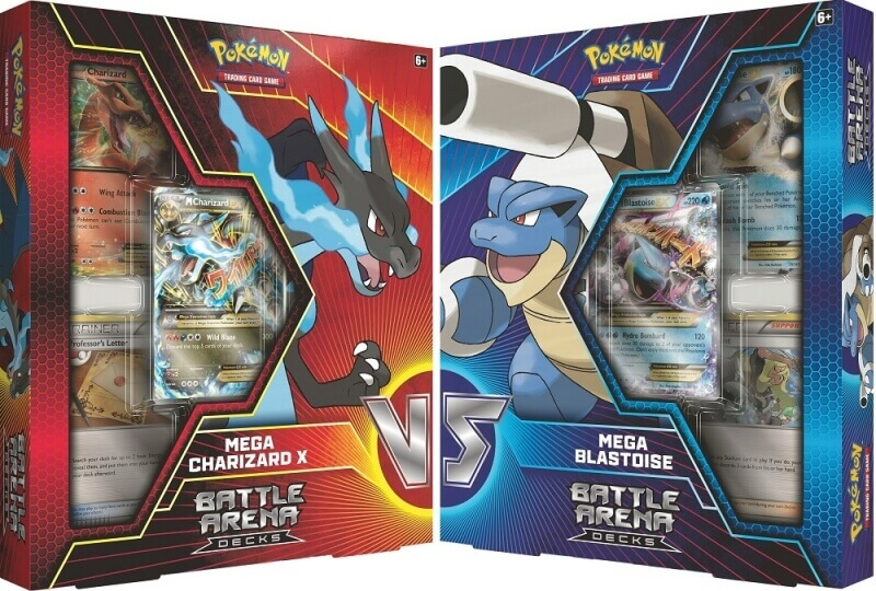 Pokémon Battle Arena Decks: Mega Charizard X vs. Mega Blastoise