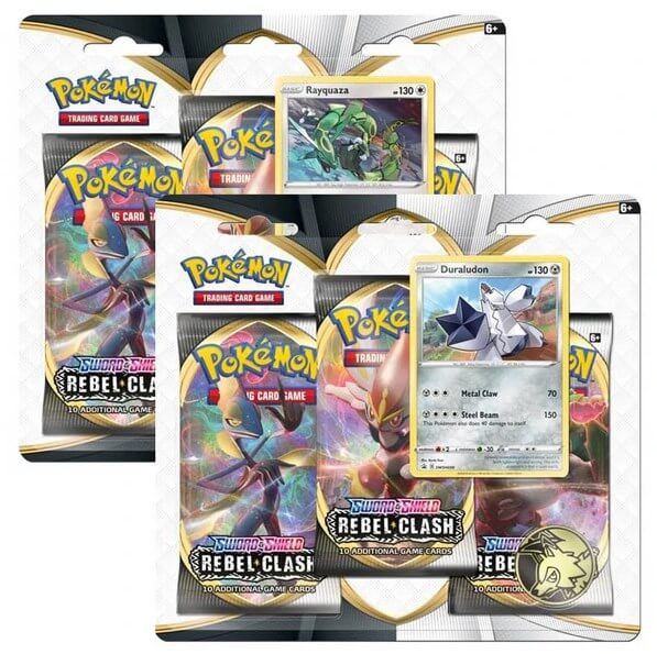 Pokémon Sword and Shield - Rebel Clash 3 Pack Blister