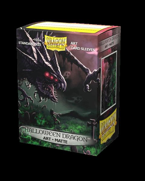 Levně Obaly na karty Dragon Shield Art Matte Sleeves - Halloween Dragon – 100 ks