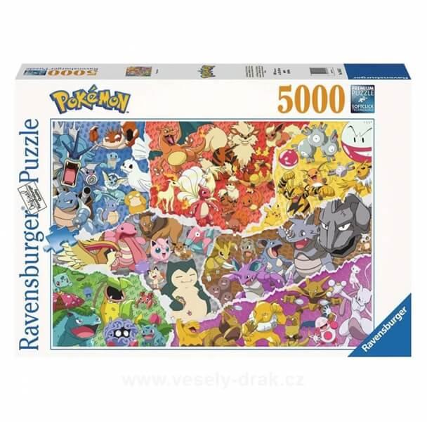 Levně Puzzle Pokémon Ravensburger - Pokémon Allstars - 5000 dílků